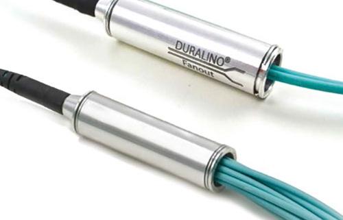 LC-LC 12-fiber Duralino trunk, free tails 900um tubing
