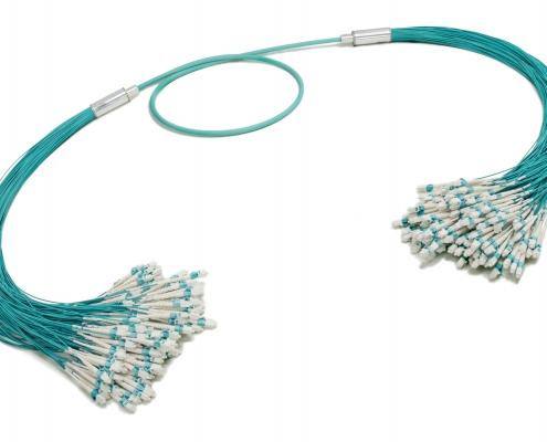 LC-LC 144-fiber Duralino trunk, free tails simplex tubing