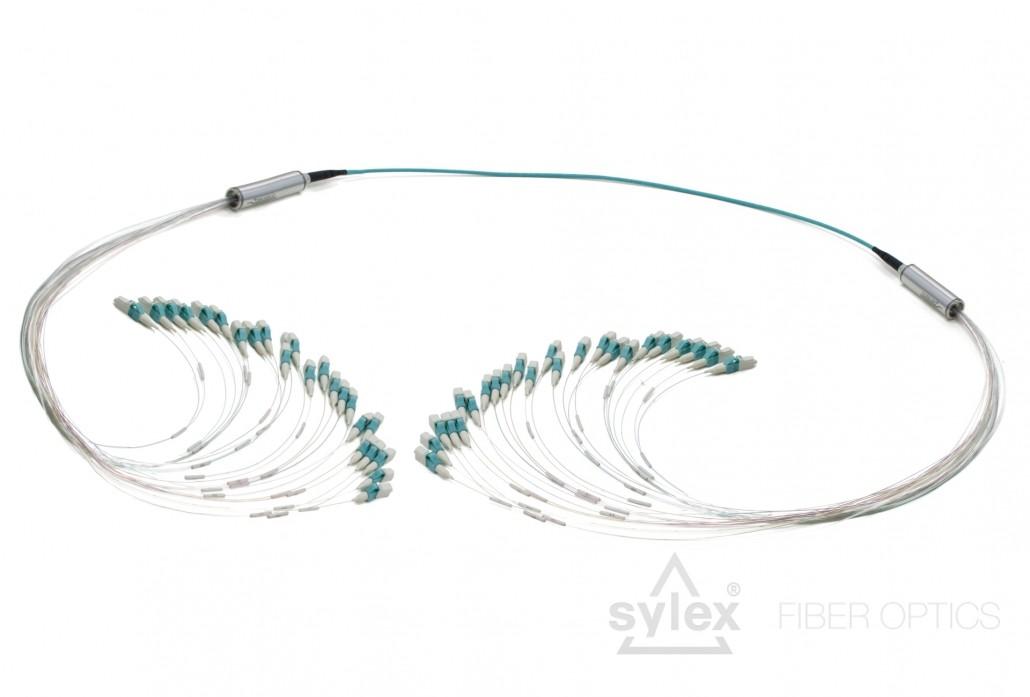 lc-lc 24-fiber duralino trunk  free tails 900um tubing