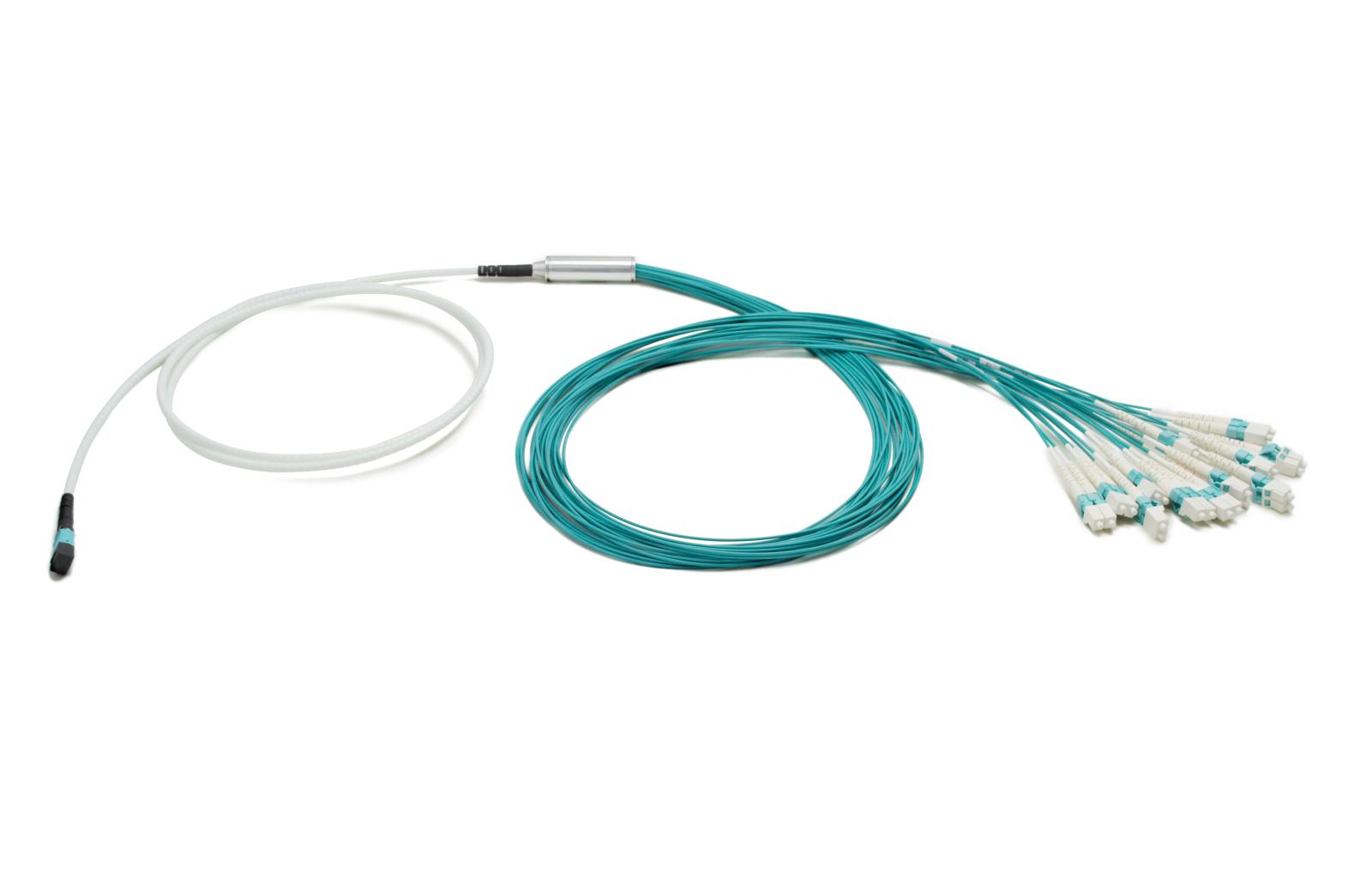 1x24f MTP to 12x LC duplex 24-fiber Miniflex Duralino fanout